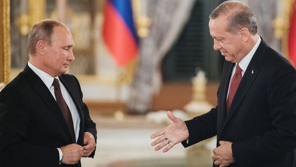Presidente russo Vladimir Putin e presidente turco Recep Tayyip Erdogan - Sputnik Italia