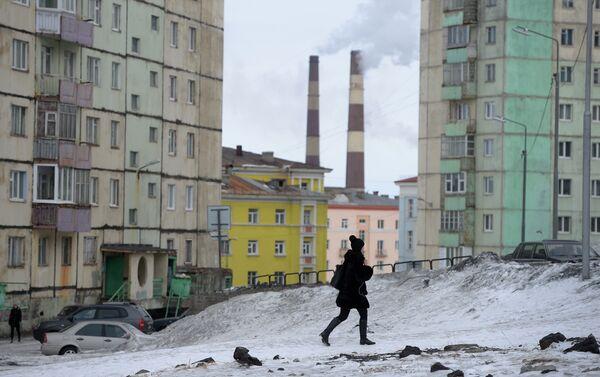 """La popolazione delle """"Monogorod"""" varia in genere da 20 a 200 mila abitanti. Nella foto Noril'sk - Sputnik Italia"""
