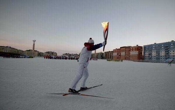 Noril'sk, la staffetta della fiamma olimpica - Sputnik Italia
