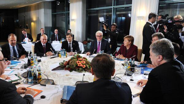 Incontro tra i leader dei Paesi membri del Quartetto Normandia - Sputnik Italia