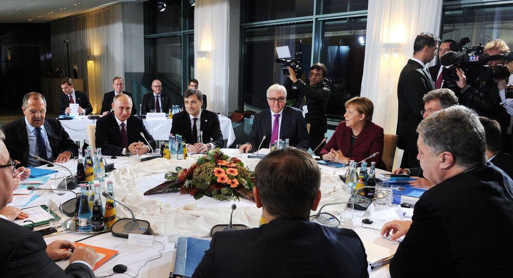 Incontro tra i leader dei Paesi membri del Quartetto Normandia