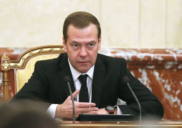 Premier russo Dmitry Medvedev