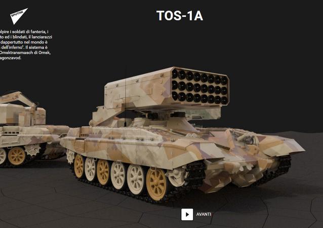 Il lanciarazzi pesante TOS-1A