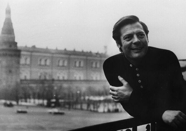 Marcello Mastroianni a Mosca nel 1969
