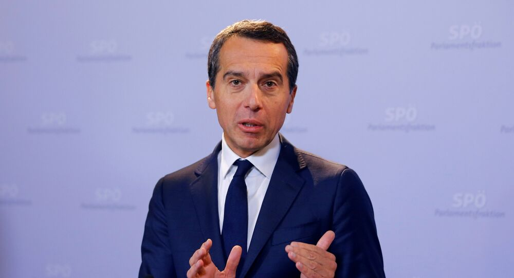 Il cancelliere austriaco Christian Kern