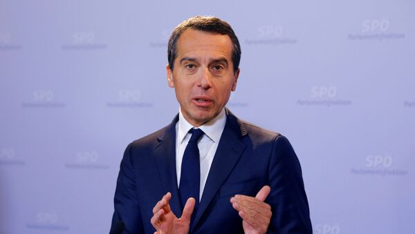 Il cancelliere austriaco Christian Kern - Sputnik Italia