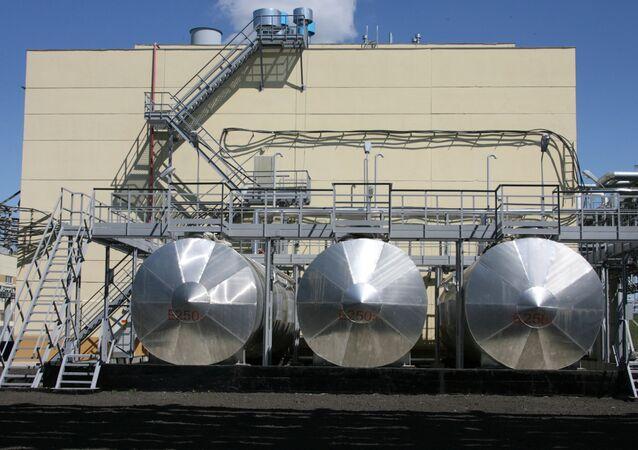 Una centrale per la distruzione di armi chimiche nella città di Shchuchye, Siberia; Russia