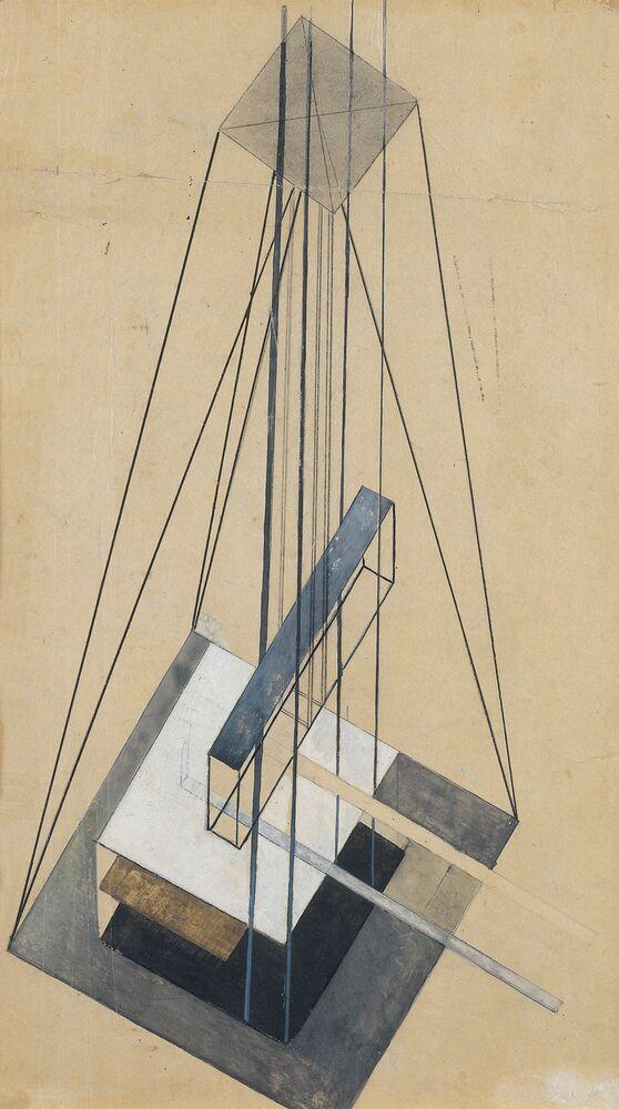 Alla mostra si sono presenti i disegni dal Museo dell'architettura di Ščusev.
