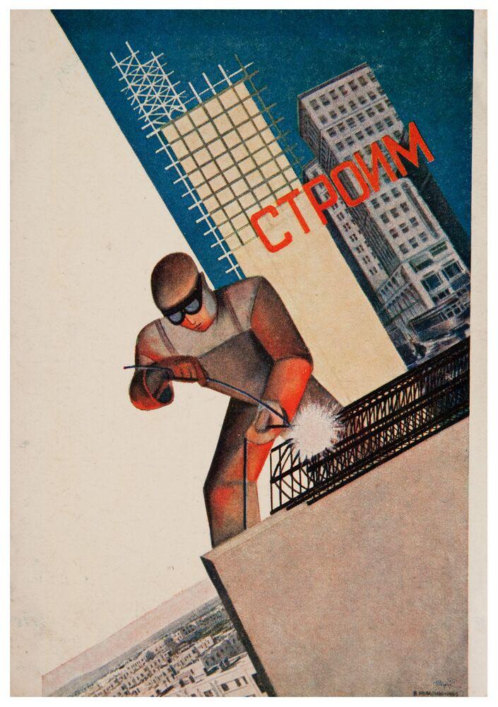 Il poster sovietico Costruiamo.