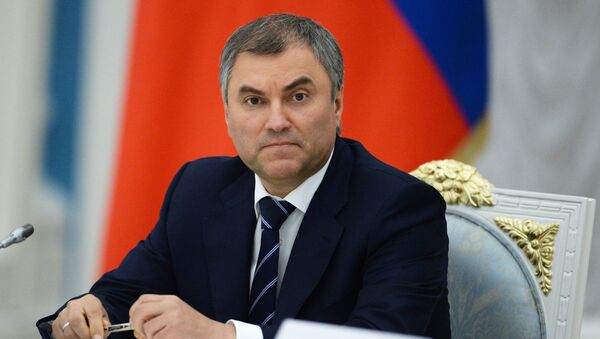 First Deputy Kremlin Chief of Staff Vyacheslav Volodin at Russian President Vladimir Putin's meeting with newly elected heads of Russia's regions at the Moscow Kremlin, September 17, 2014 - Sputnik Italia