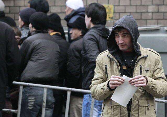 Migranti delle Repubbliche ex Urss a Mosca (foto d'archivio)