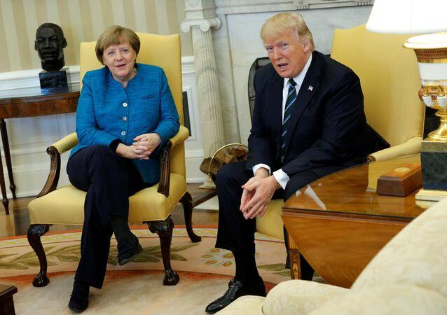 Incontro tra Angela Merkel e Donald Trump alla Casa Bianca