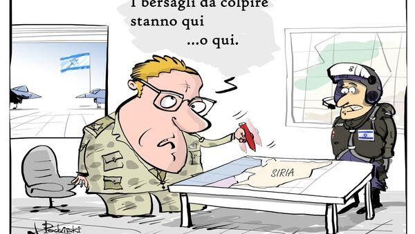 L'esercito siriano aveva reso noto di aver abbattuto un jet dell'aeronautica israeliana che aveva violato lo spazio aereo siriano - Sputnik Italia