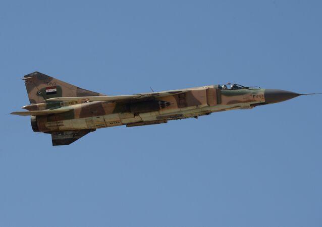 Caccia Mig-23 dell'esercito siriano