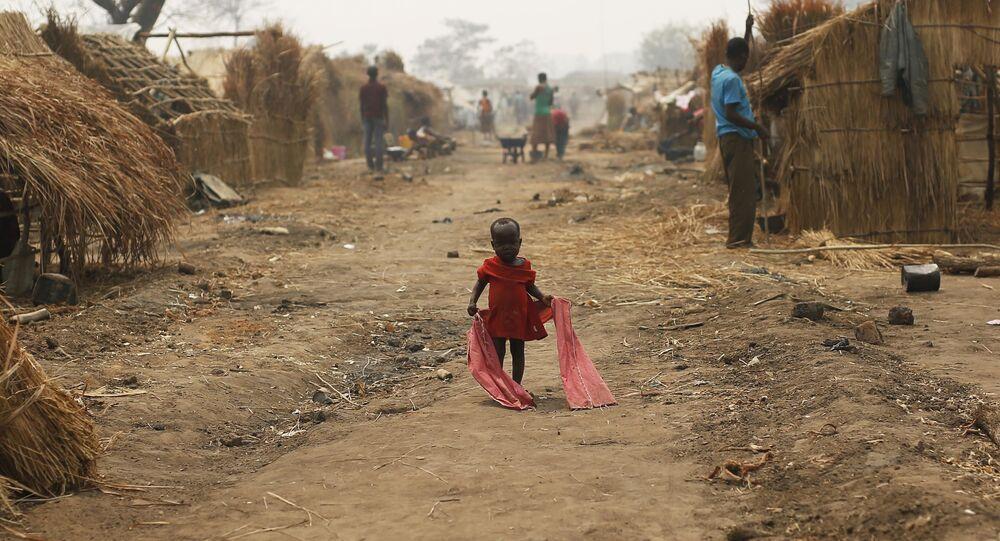 Bambino in un campo profughi a Kaga-Bandoro, nella Repubblica Centrafricana