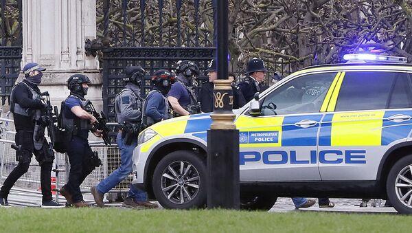 Una vettura della polizia vicino alla Camera dei Comuni di Londra - Sputnik Italia