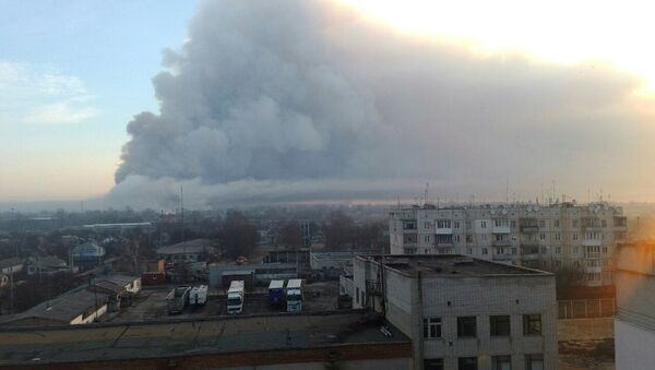 Incendio deposito munizioni ucraina - Sputnik Italia