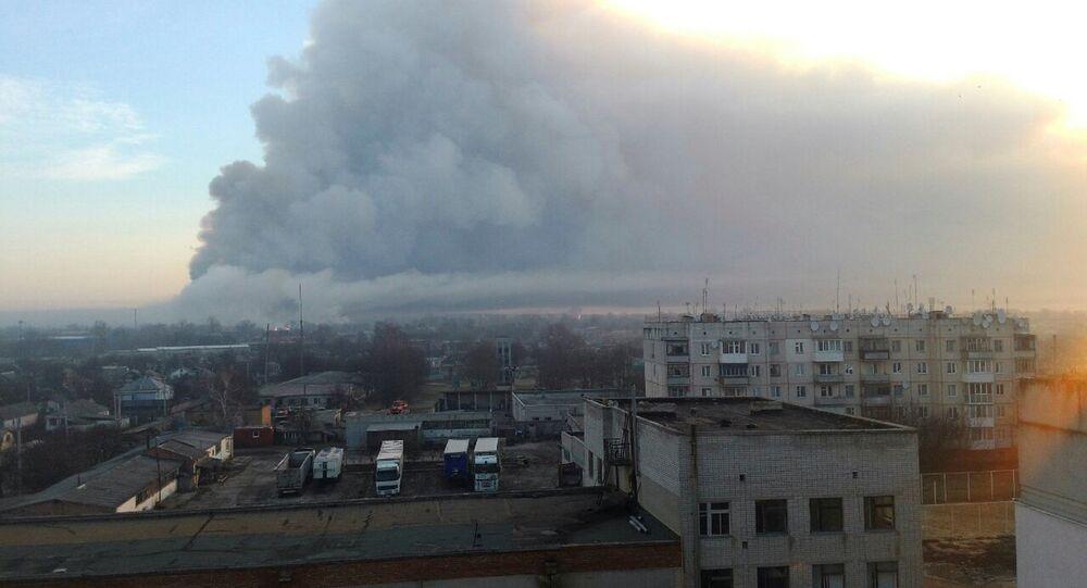 Incendio deposito munizioni ucraina