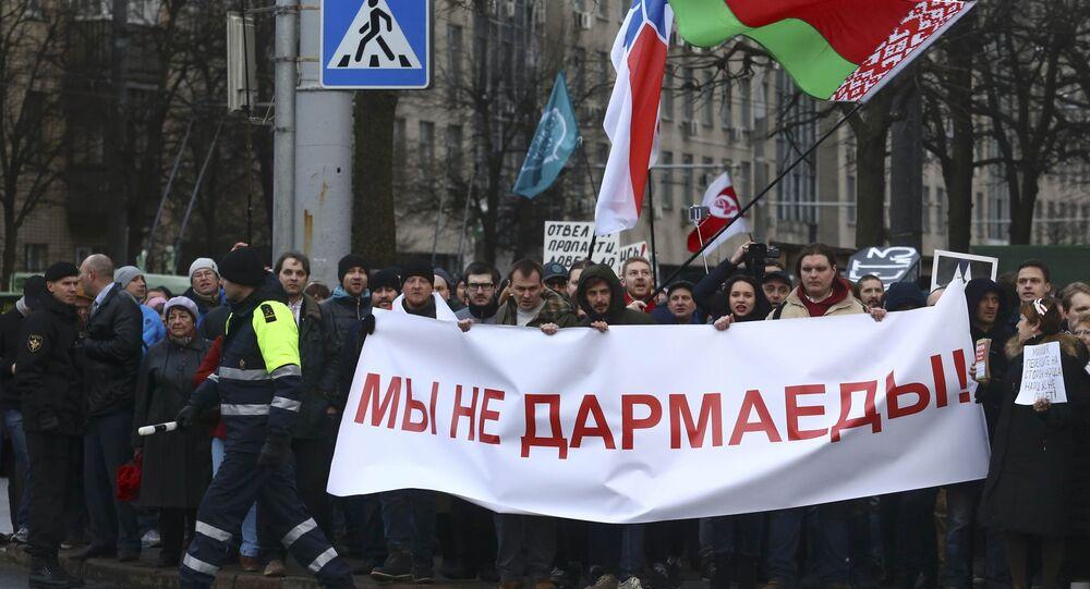 Manifestazione di protesta in Bielorussia (foto d'archivio)
