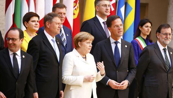 Лидеры ЕС на юбилейном саммите ЕС в Риме, посвященном 60-летию союза - Sputnik Italia