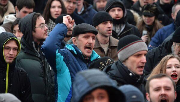 Акция против декрета о тунеядцах в Минске - Sputnik Italia