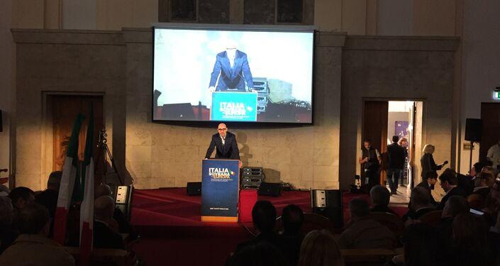 Gian Micalessin durante il convegno Italia sovrana in Europa