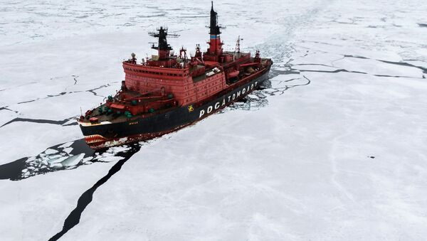 Атомный ледокол Ямал во время научно-исследовательских работ в Карском море - Sputnik Italia