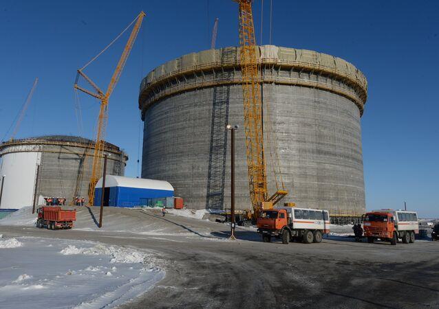 Impianto GNL di Yamal in costruzione