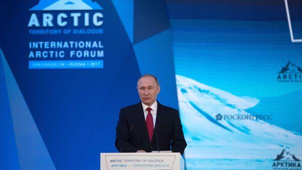 Russian President Vladimir Putin visits The Arctic: Territory of Dialogue international forum - Sputnik Italia