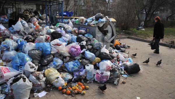Immondizia sulle strade a Lvovo (Leopoli) - Sputnik Italia