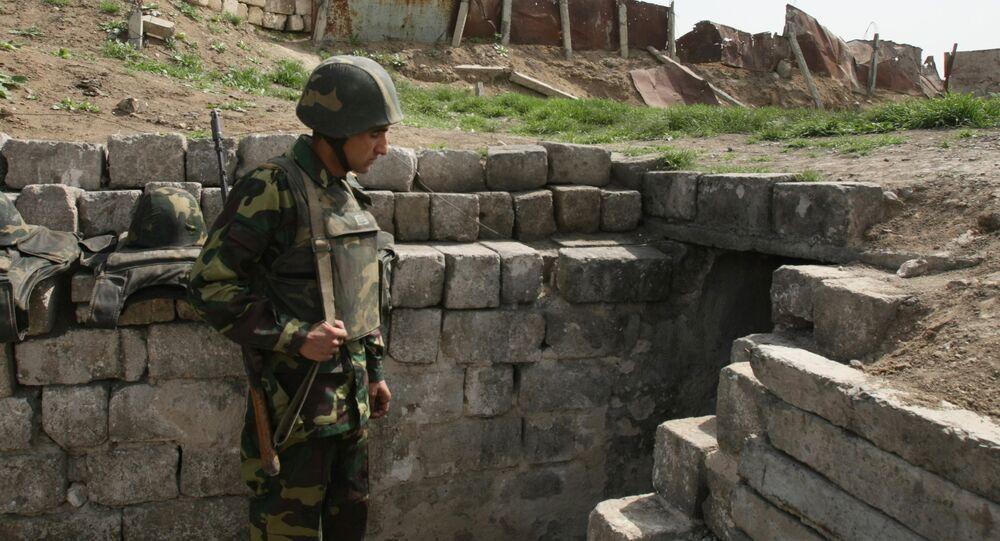 Un soldato nel Nagorno-Karabakh