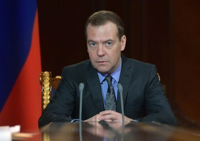 Primo ministro russo uscente Dmitry Medvedev