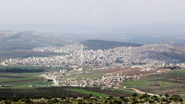 Veduta della città siriana di Afrin controllata da curdi (foto d'archivio) - Sputnik Italia