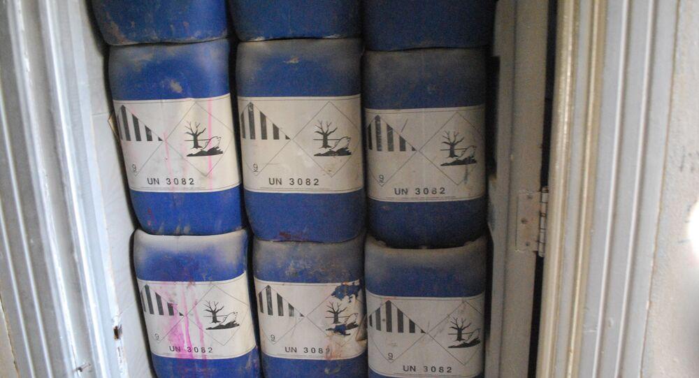Sostanze chimiche trovate in una fabbrica di armi degli islamisti ad Aleppo (foto d'archivio)