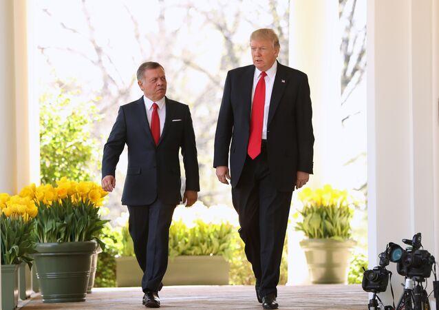 Re Abdullah II di Giordania e Donald Trump