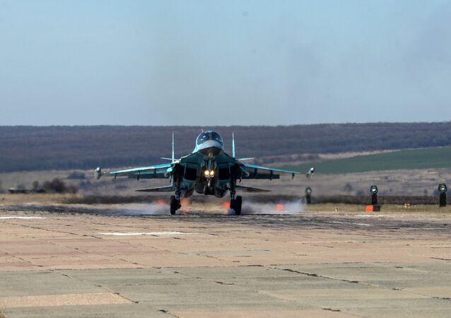 Le esercitazioni dei Su-34