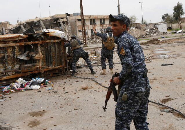 Polizia federale irachena a Mosul
