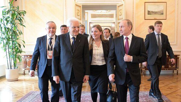 Incontro tra Vladimir Putin e Sergio Mattarella a Mosca - Sputnik Italia