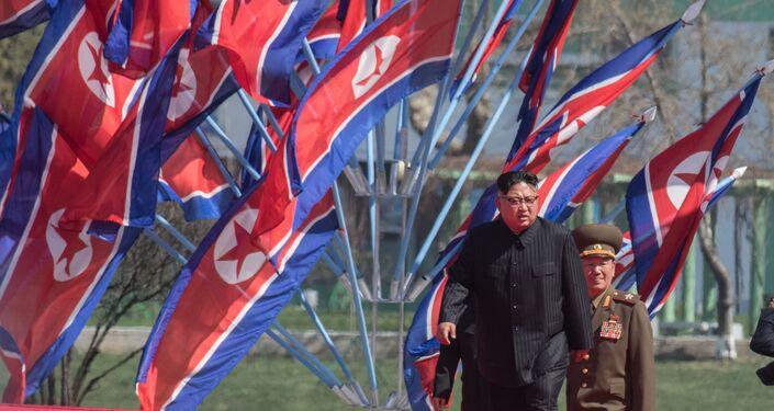 Il capo della Corea del Nord Kim Jong Un a Pyongyang