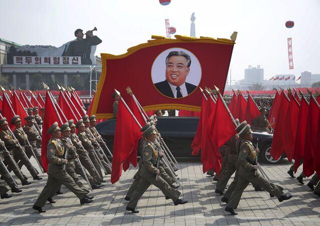 Parata militare del 15 aprile a Pyongyang