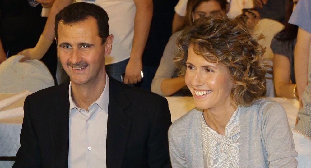 Bashar Assad e sua moglie Asma