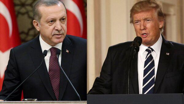 Turkish President Erdogan and US President Trump - Sputnik Italia