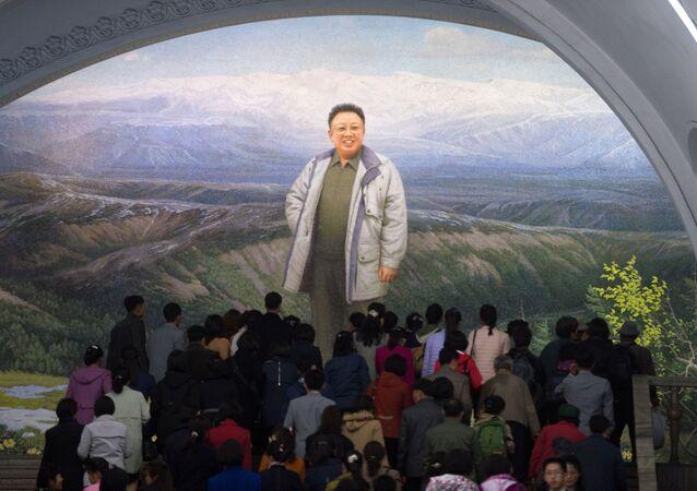 Nella metropolitana di Pyongyang