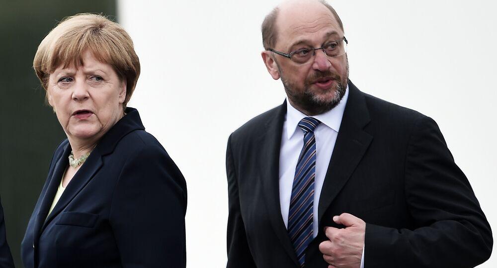 Martin Schulz ed Angela Merkel