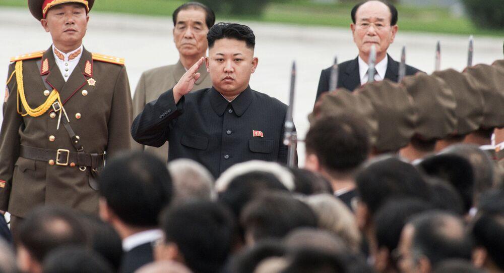 Kim Jong Un a Pyongyang, Corea del Nord.