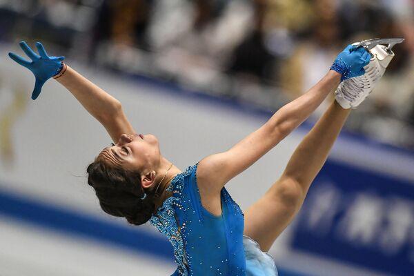 Evgeniya Medvedeva al campionato di pattinaggio artistico a Tokyo. - Sputnik Italia