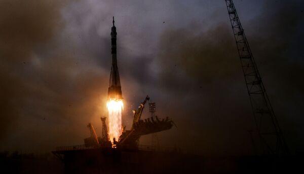 Il lancio del razzo Soyuz-FG dal cosmodromo Baikonur. - Sputnik Italia