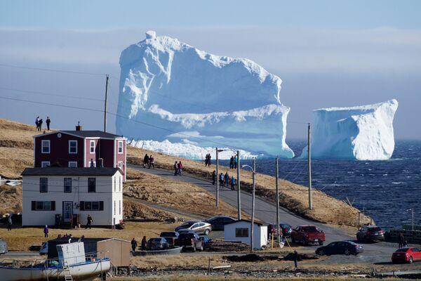 Un iceberg gigante vicino al villaggio canadese di Ferryland. - Sputnik Italia