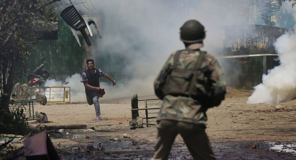 Proteste in Kashmir
