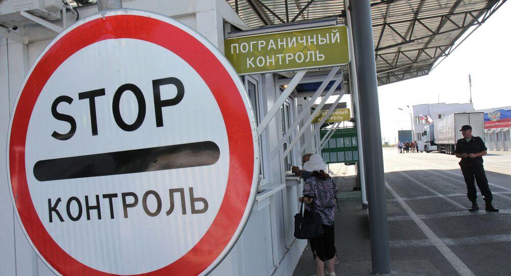 Valico di frontiera tra Russia e Ucraina